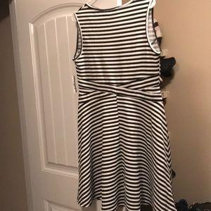 Fashion to Figure Dresses - Black and White striped dress
